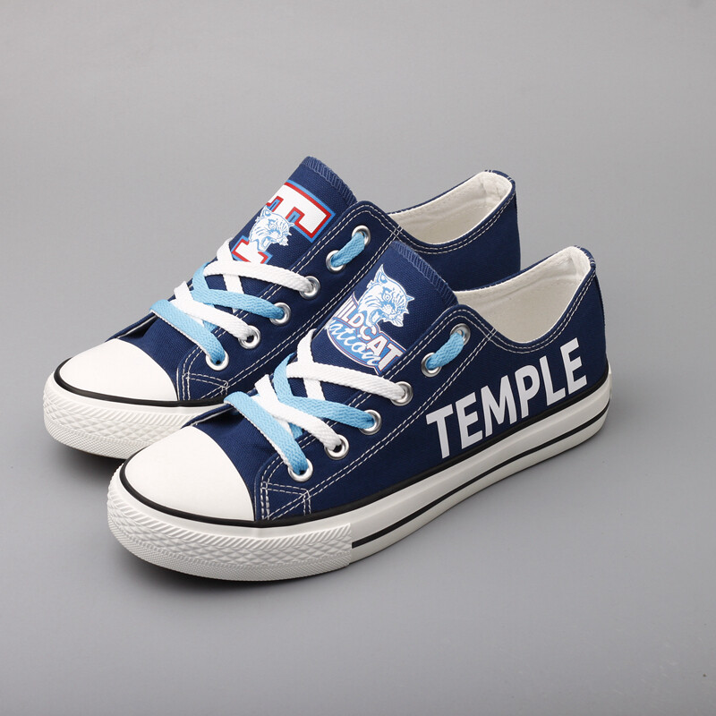 Temple Wildcats Print High School Canvas Shoes Sport Sneakers