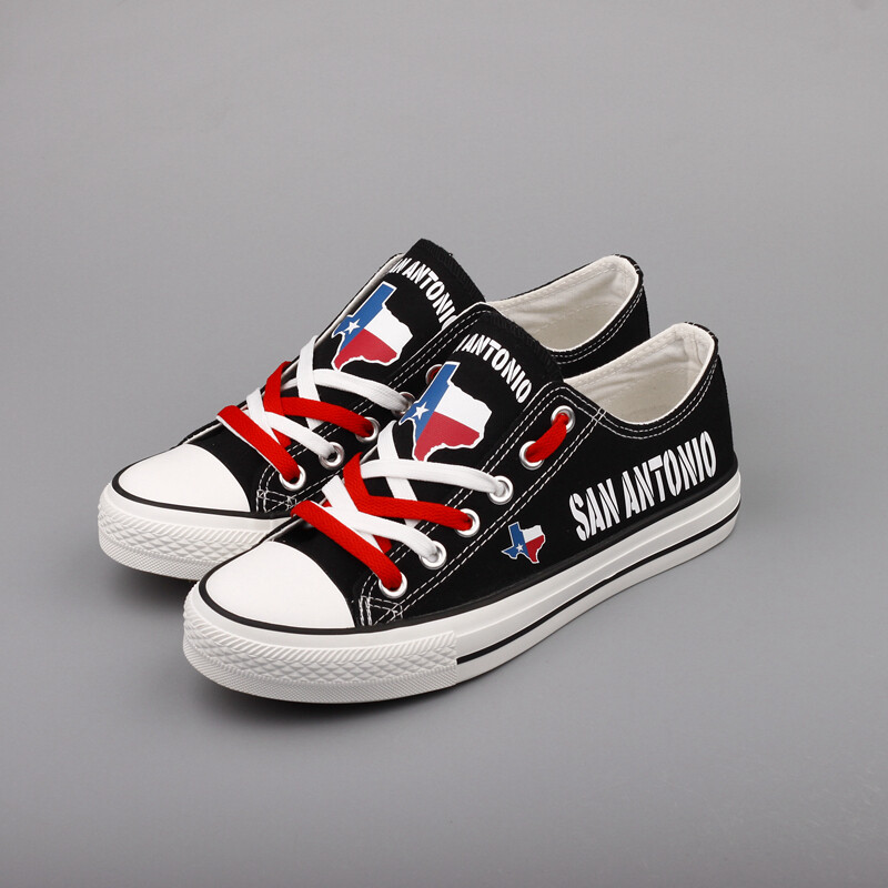 Custom America Print Canvas Shoes Texas State San Antonio City Design Sport Sneakers