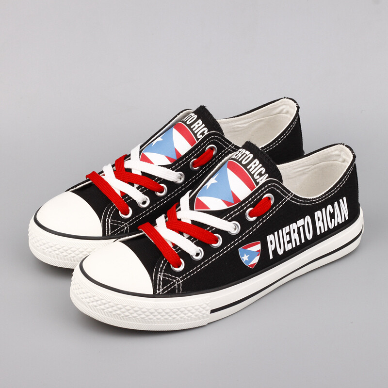 Customize America Puerto Rico Print Canvas Shoes Puerto Rican Design Sport Sneakers