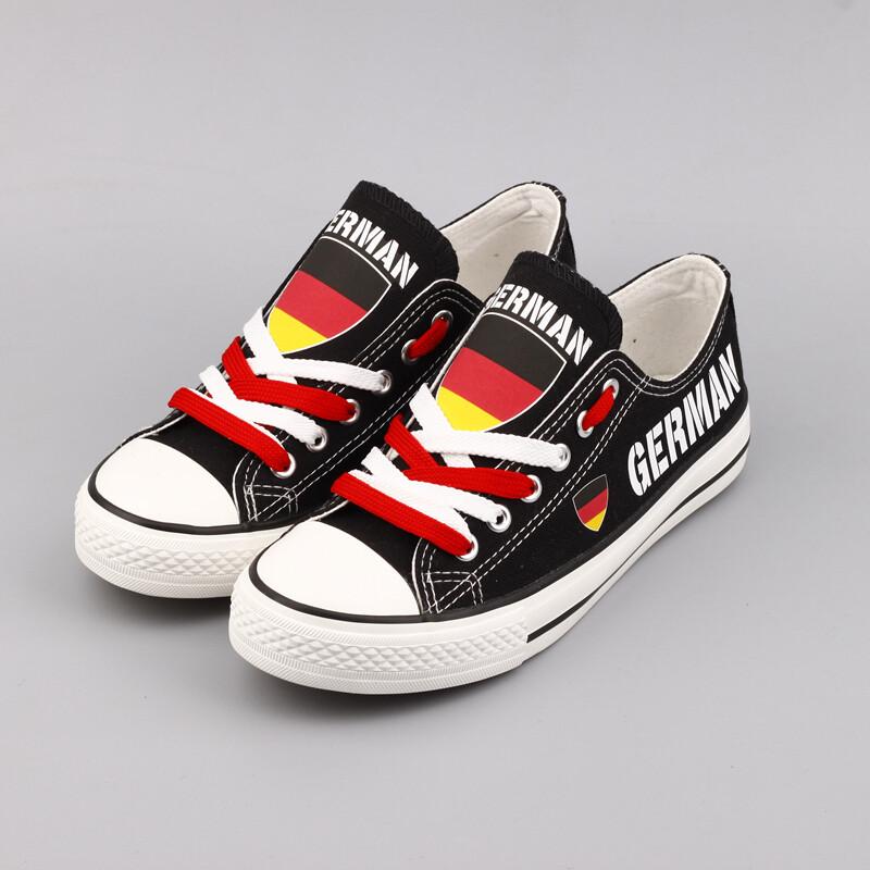 Custom Germany Print Canvas Shoes German Design Deutsch Sport Sneakers