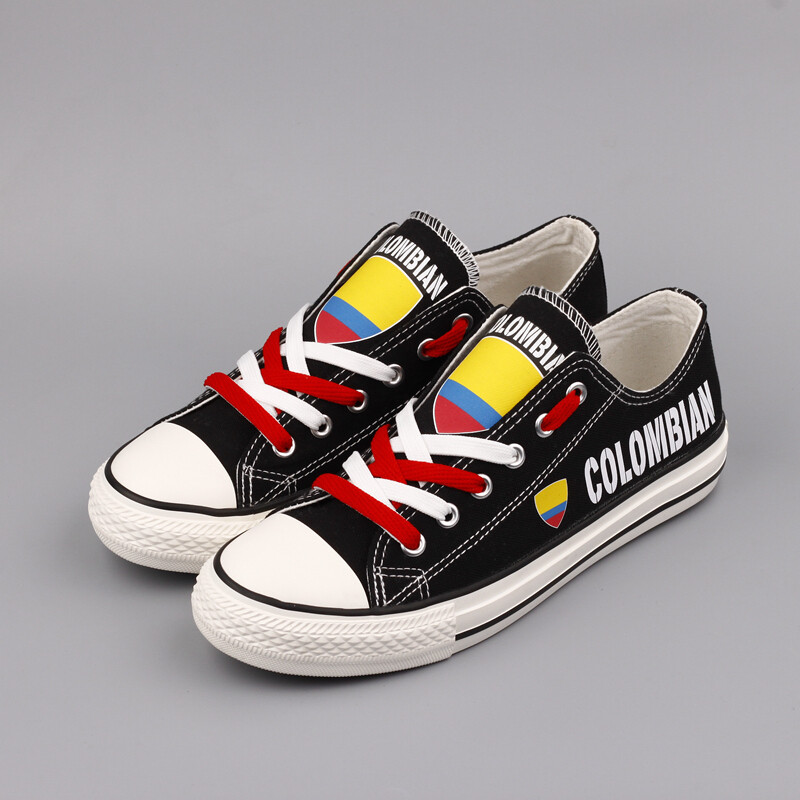 Customize Colombia Print Canvas Shoes Colombian Design Sport Sneakers