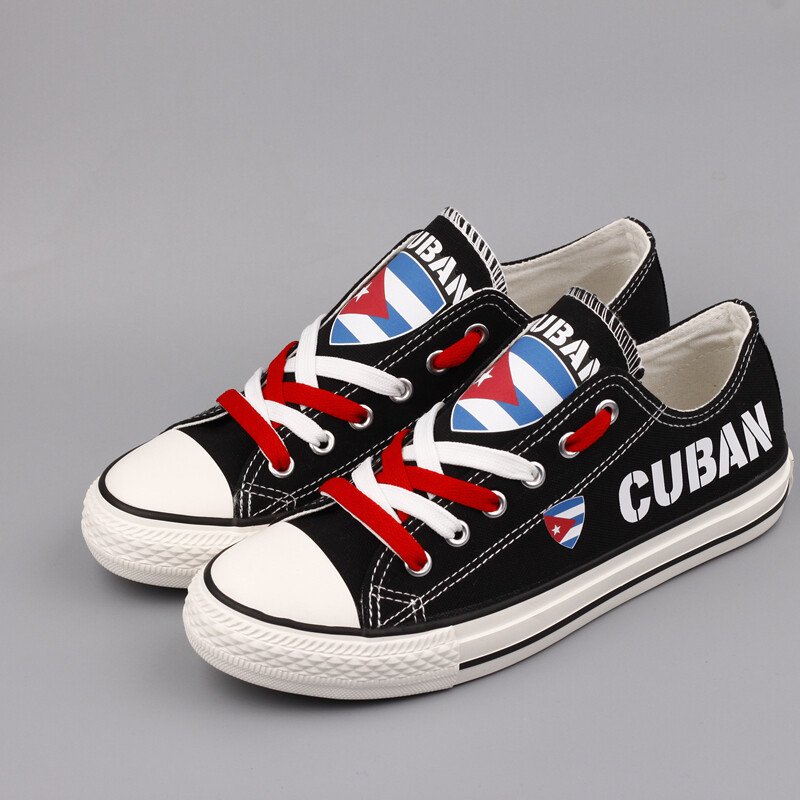 Customize Cuba Print Canvas Shoes Cuban Design Sport Sneakers