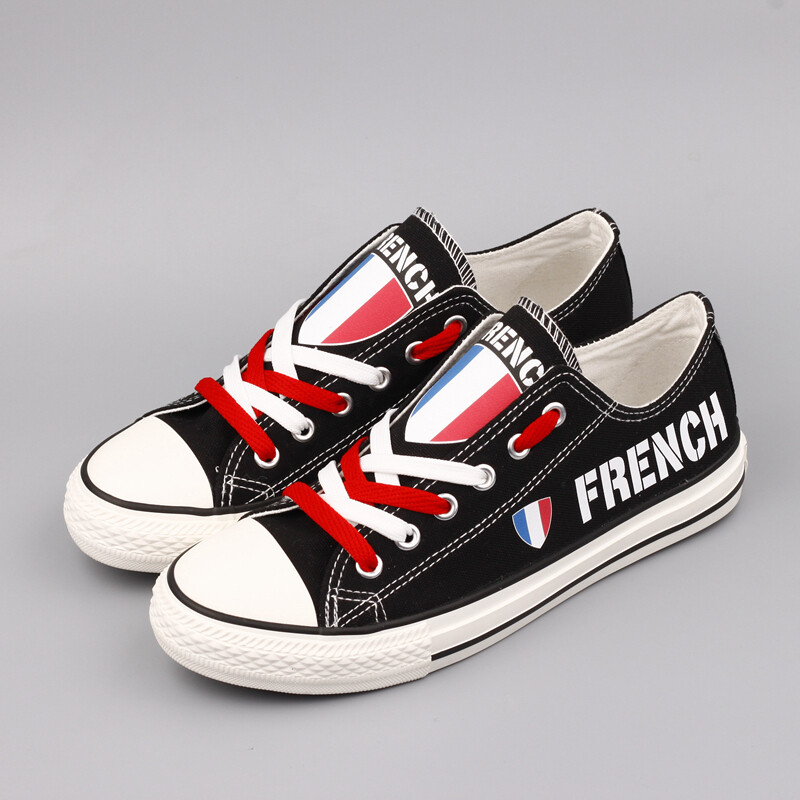 Customize France Print Canvas Shoes French Design Sport Sneakers