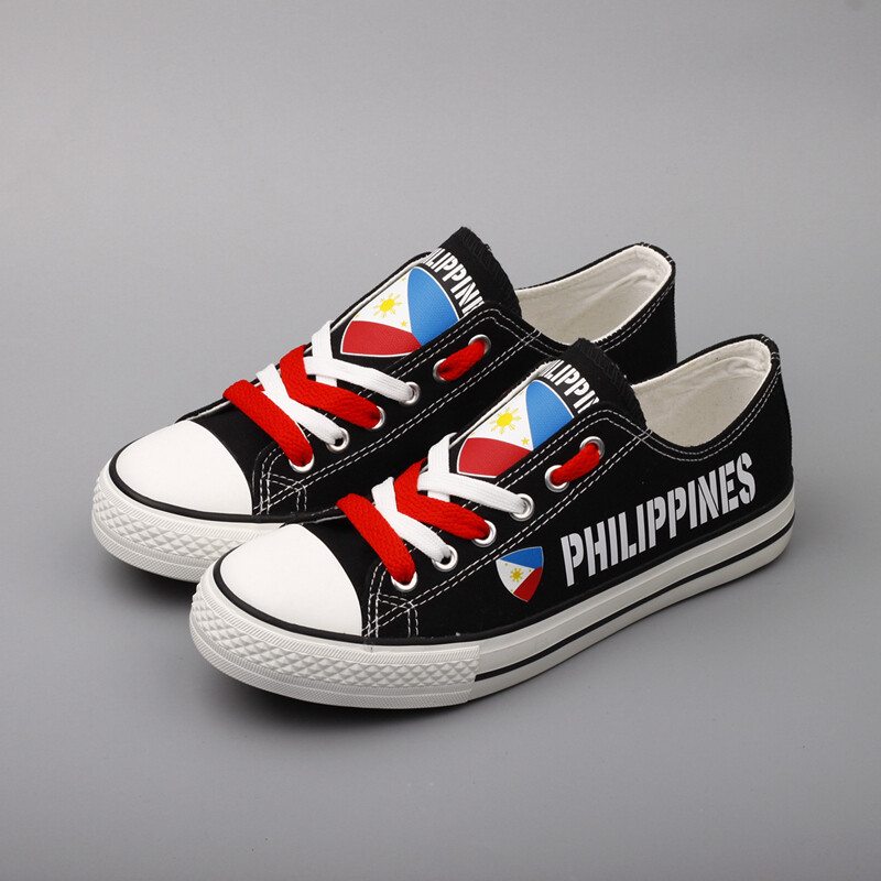Customize Philippines Print Canvas Shoes Filipino Design Low Top Sport Sneakers