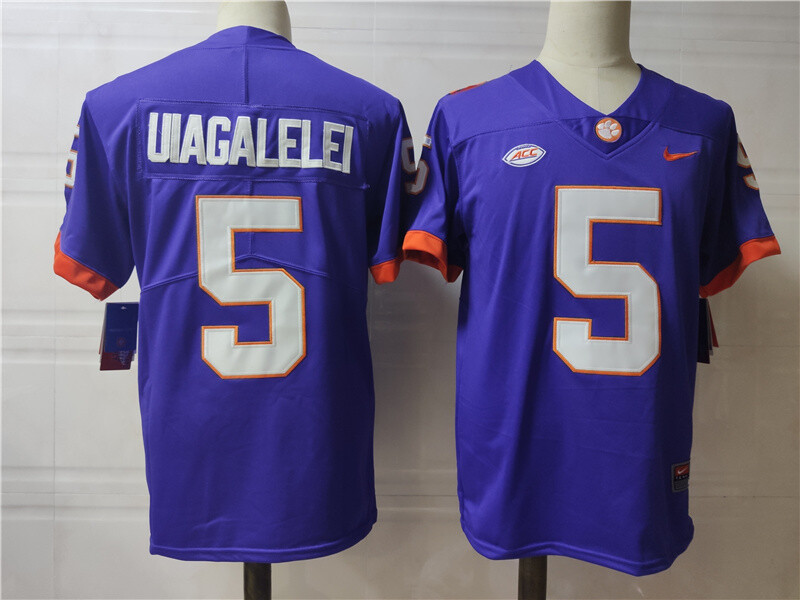 Clemson Tigers #5 Uiagalelei College Football Jersey Blue