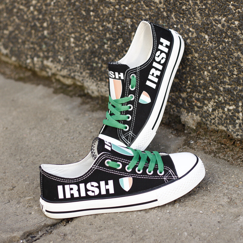 Customize Ireland Country Print Canvas Shoes Irish Design Low Top Sport Sneakers 2