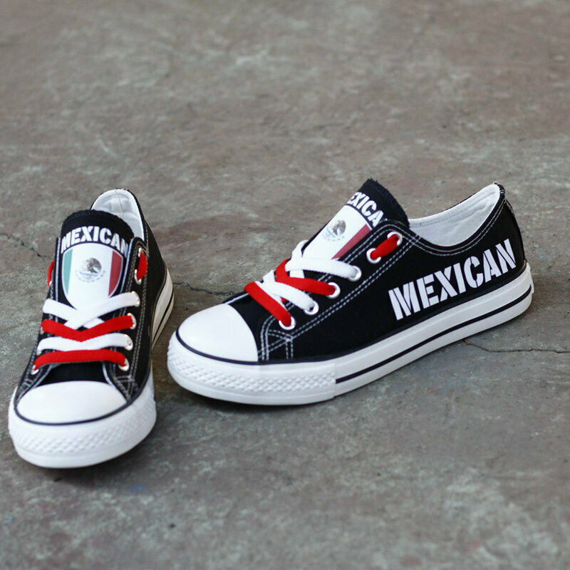 Customize Mexico Print Canvas Shoes Mexican Design Sport Sneakers