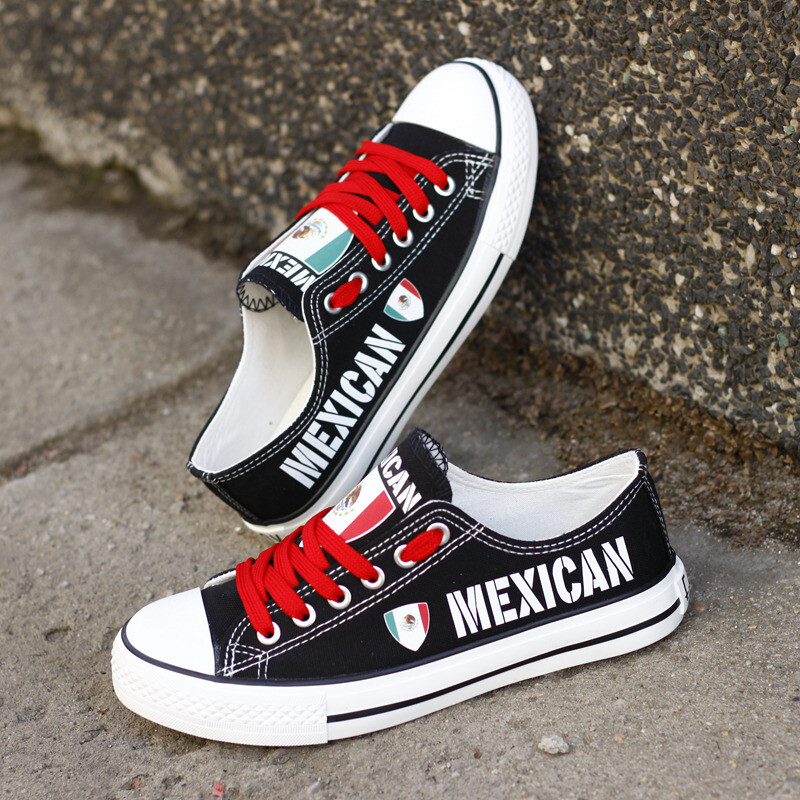 Customize Mexico Print Canvas Shoes Mexican Design Sport Sneakers 1