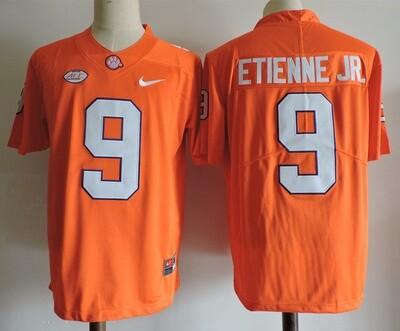 Clemson Tigers #9 Travis Etienne Jr College Football Jersey Orange