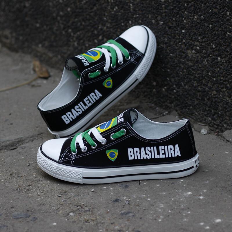 Customize Print Brasil Canvas Shoes Design Brasileira Sport Sneakers
