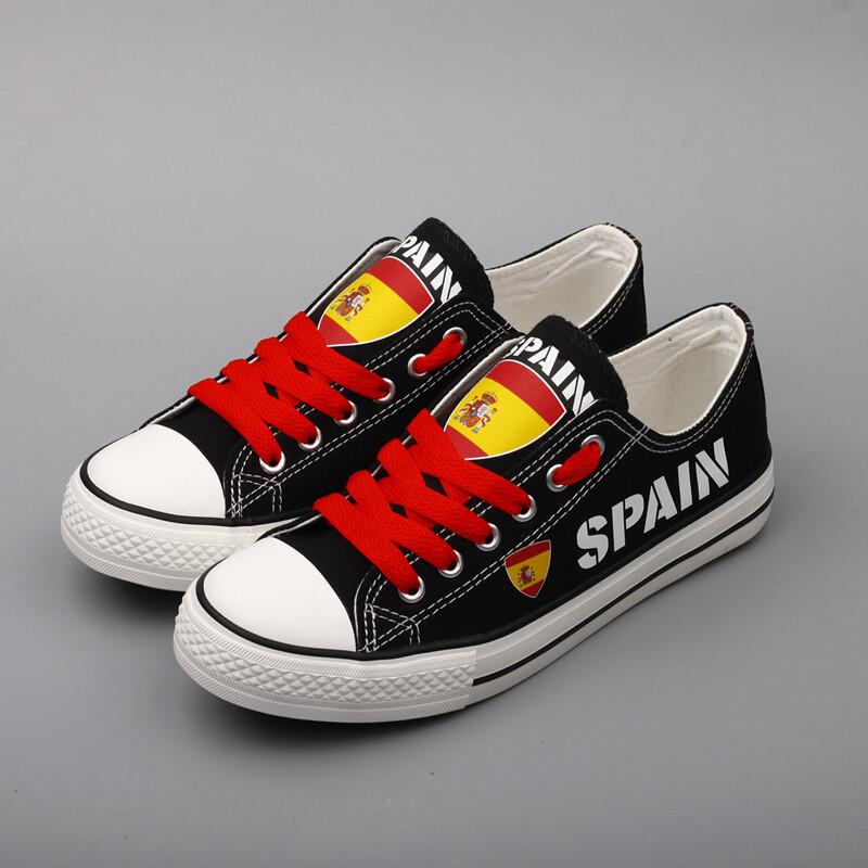 Customize Spain Print Canvas Shoes Spanish Design ESPANA Sport Sneakers 1