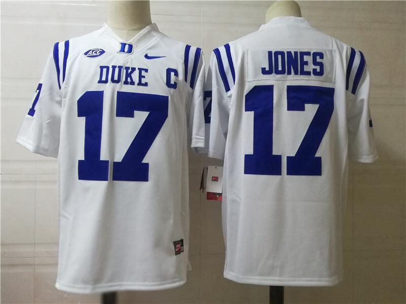 Duke Blue Devils #17 JONES College Football Jersey White