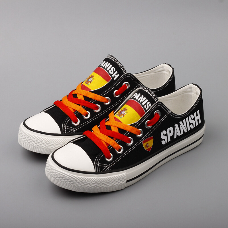 Customize Spain Print Canvas Shoes Spanish Design ESPANA Sport Sneakers 2