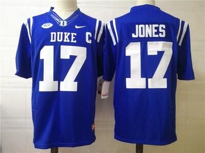 Duke Blue Devils #17 JONES College Football Jersey Blue