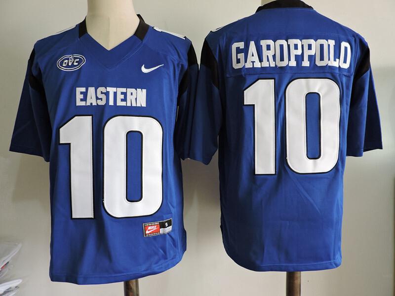 Eastern Illinois #10 JIMMY GAROPPOLO College Football Jersey Blue