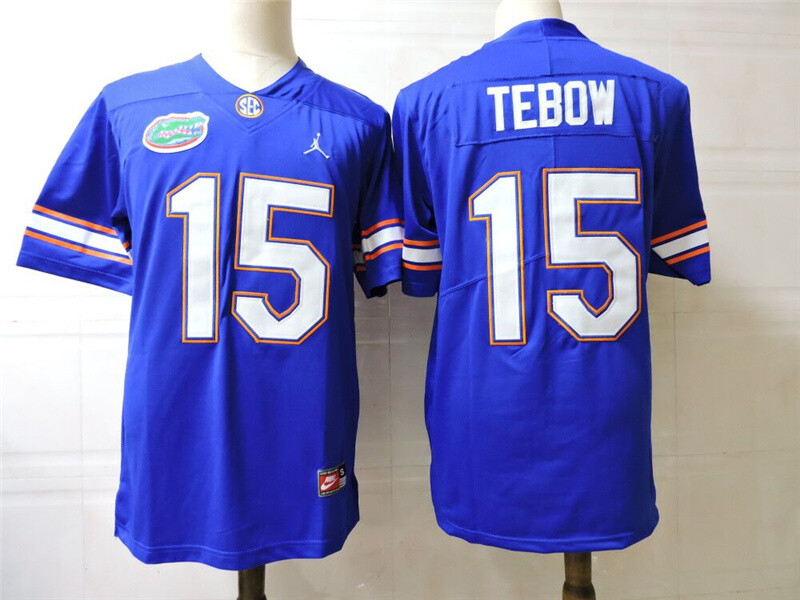 Florida Gators #15 Tim Tebow College Football Jersey Blue