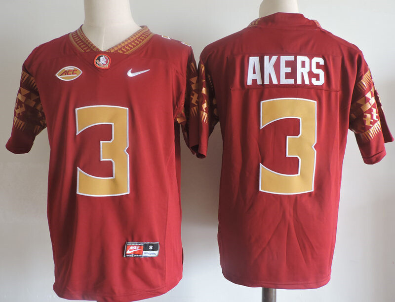 Florida State Seminoles #3 Cam Akers College Football Jersey