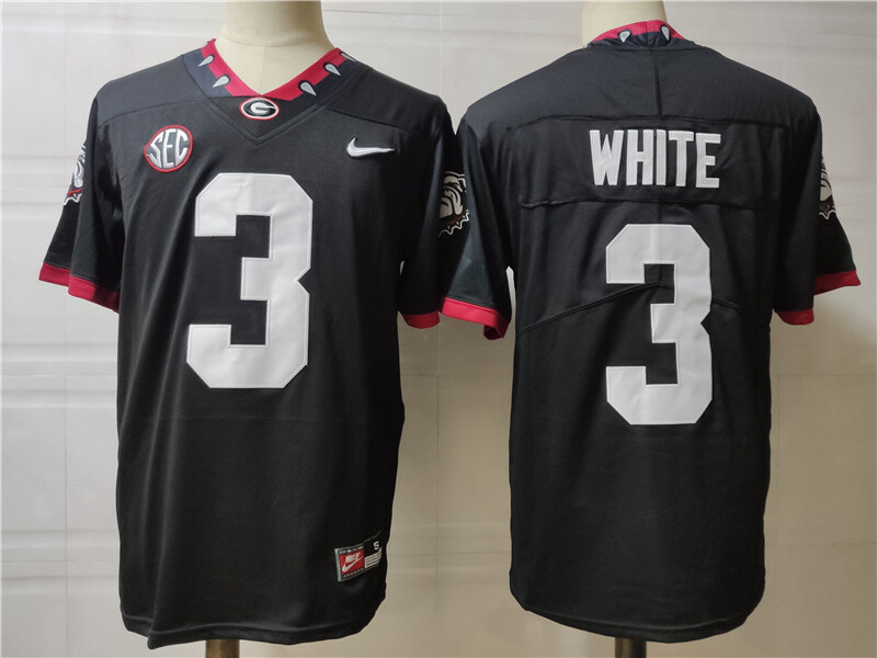 Georgia Bulldogs #3 White College Football Jersey