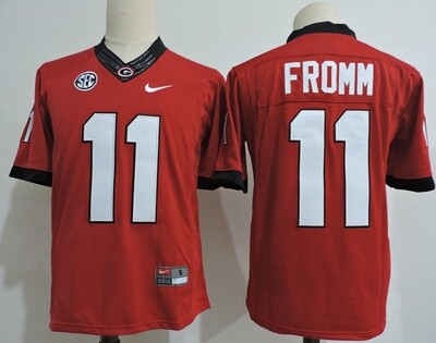 Georgia Bulldogs #11 Jake FrommCollege Football Jersey Red