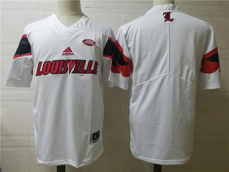 Louisville Cardinals College Football Jersey White