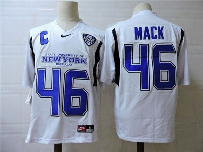 New York Buffalo #46 Mack College Football Jersey White