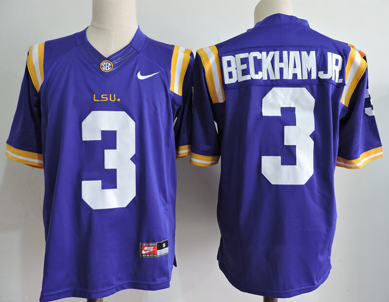 LSU Tigers #3 Odell Beckham Jr College Football Jersey Blue