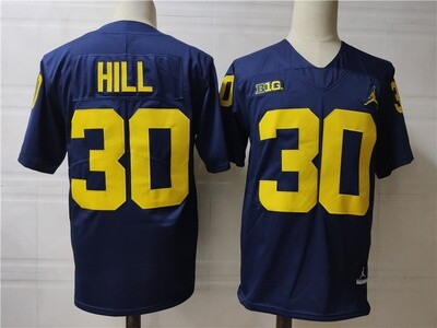 Michigan Wolverines #30 Hill College Football Jersey