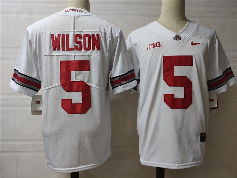 Ohio State Buckeyes #5 Wilson College Football Jersey White