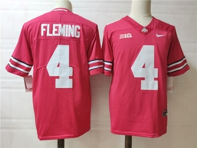 Ohio State Buckeyes #4 Fleming College Football Jersey Red