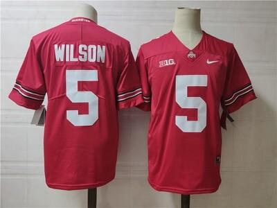 Ohio State Buckeyes #5 Wilson College Football Jersey Red