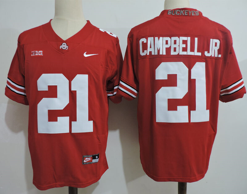 Ohio State Buckeyes #21 Campbell Jr College Football Jersey Red