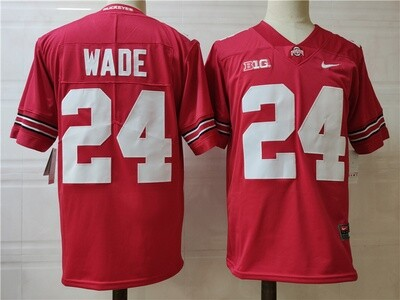 Ohio State Buckeyes #24 Wade College Football Jersey Red