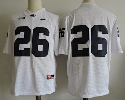Penn State Nittany Lions #26 No Name College Football Jersey White