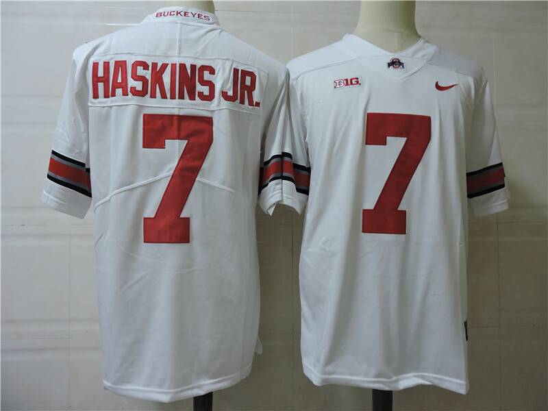 Ohio State Buckeyes #7 Dwayne Haskins Jr. College Football Jersey White