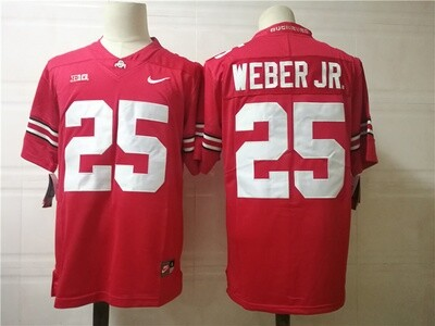 Ohio State Buckeyes #25 Weber Jr College Football Jersey Red