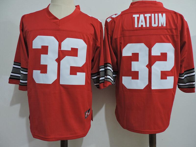 Ohio State Buckeyes #32 Tatum College Football Jersey Red