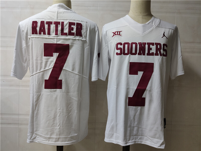 Oklahoma Sooners #7 Sooners College Football Jersey White