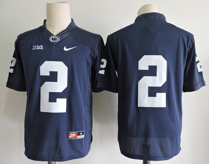 Penn State Nittany Lions #2 No Name College Football Jersey Navy