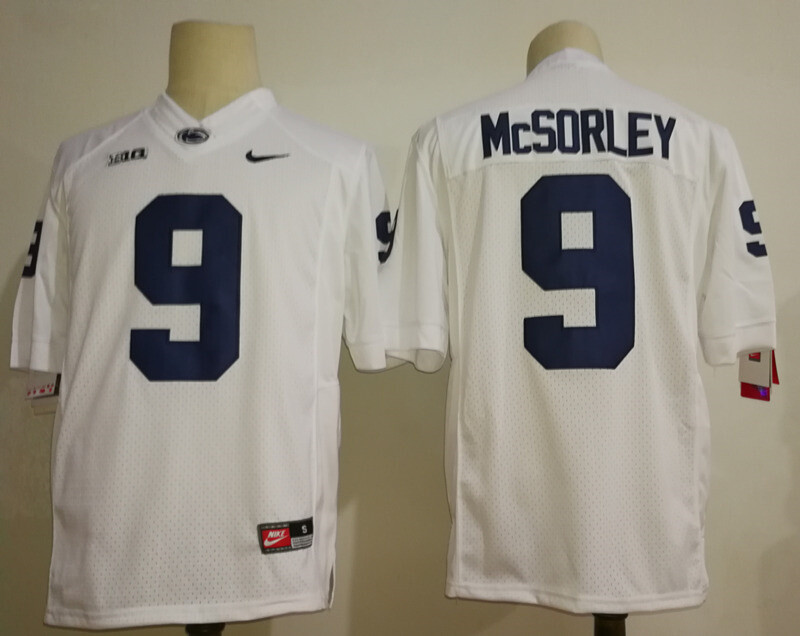 Penn State Nittany Lions Blue #9 Trace McSorley College Football Jersey White