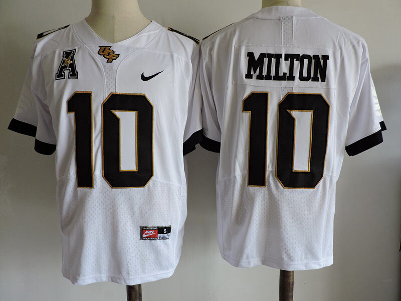 UCF Knights #10 Milton College Football Jersey White