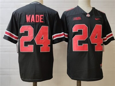 Ohio State Buckeyes #24 Wade College Football Jersey Black