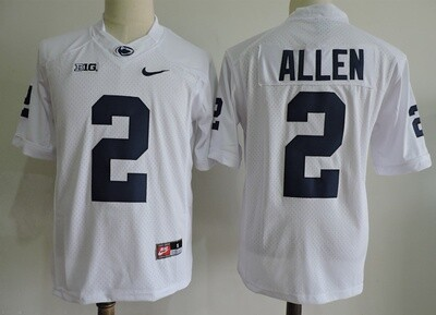 Penn State Nittany Lions #2 Marcus Allen  College Football Jersey White