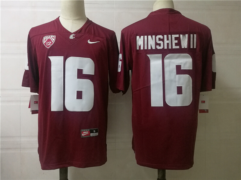 Washington State #16 Minshew II College Football Jersey Red