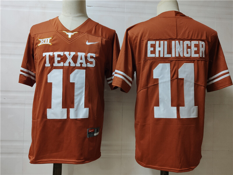 Texas Longhorns #11 Sam Ehlinger College Football Jersey