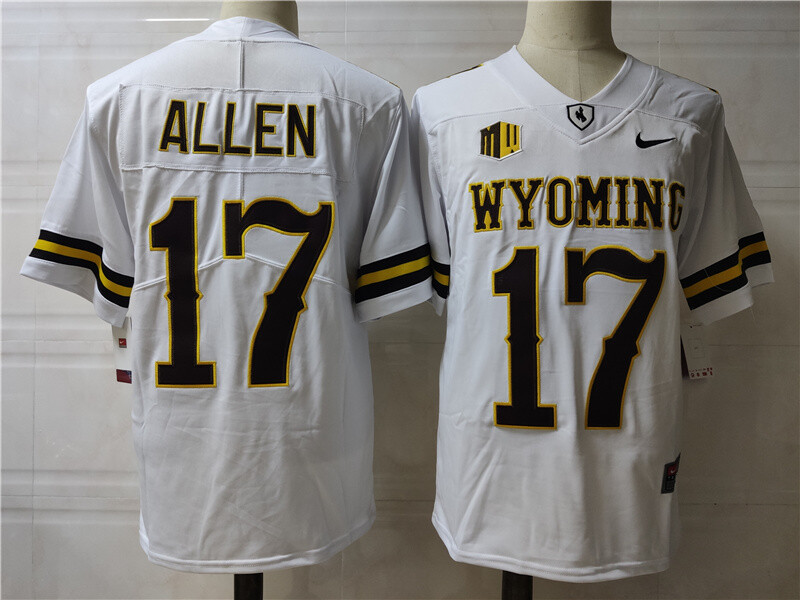 Wyoming Cowboys #17 Josh Allen College Football Jersey White