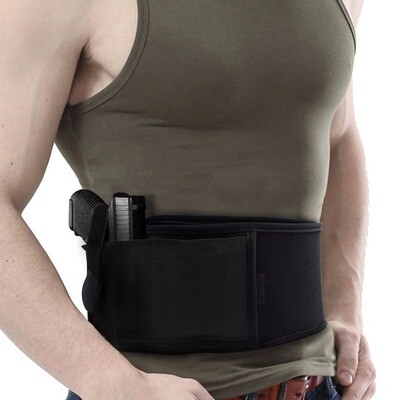 Belly Band Holster - Right/Left Hand 2 in 1 Combo Tactical Abdominal  Band Belly Pistol
