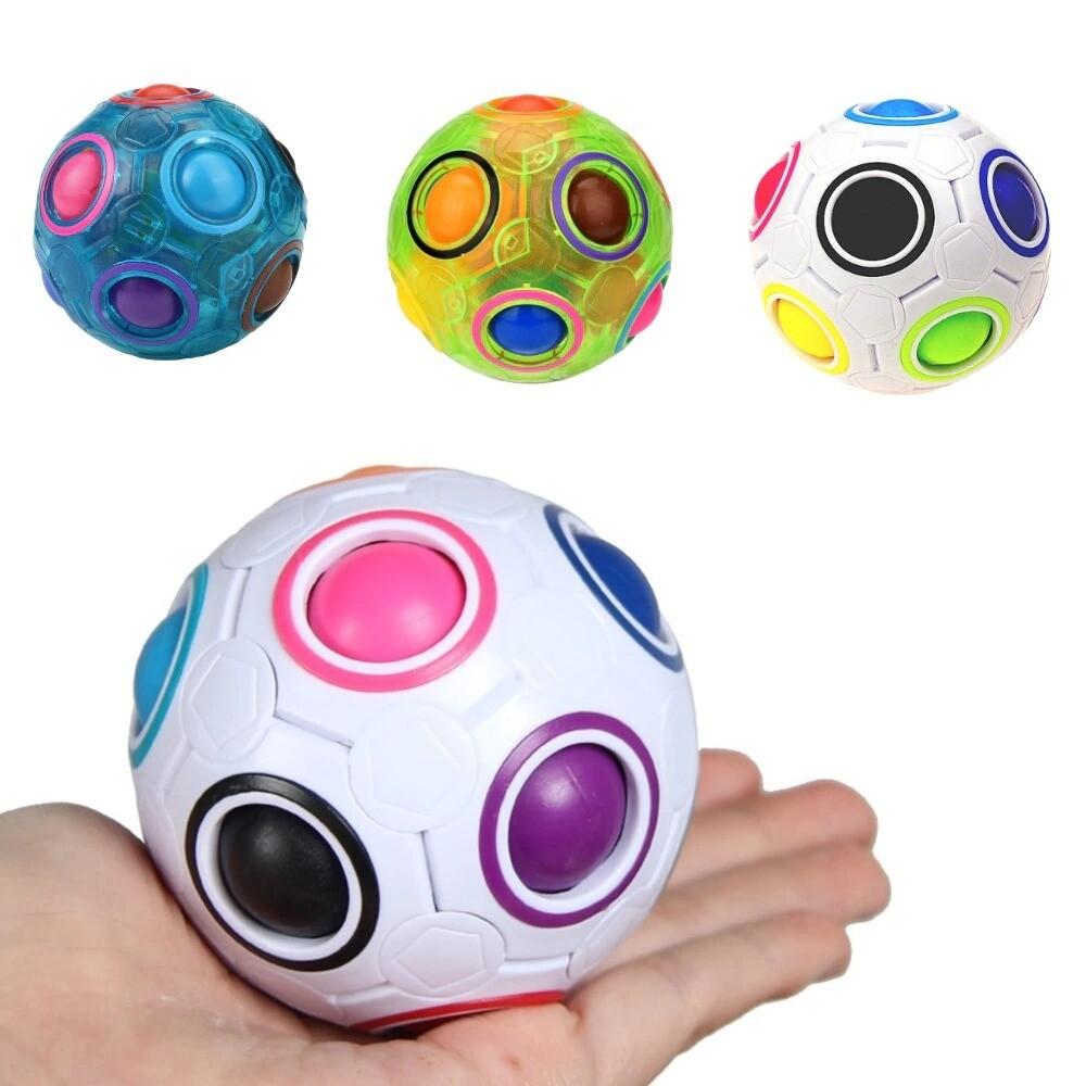 Creative Magic Rainbow Ball Cube Speed Puzzle