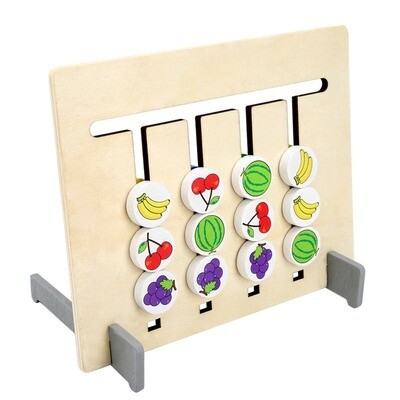 Wooden Educational Montessori Toy Colors And Fruits