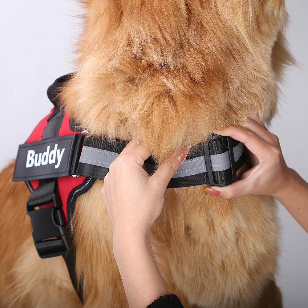 Custom Dog Harness NO PULL Reflective Breathable Adjustable Pet