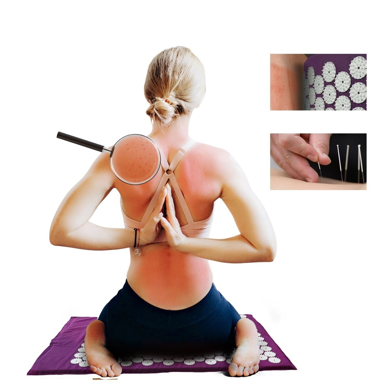 Massage Cushion Yoga Acupressure Mat and Pillow Set Neck Back